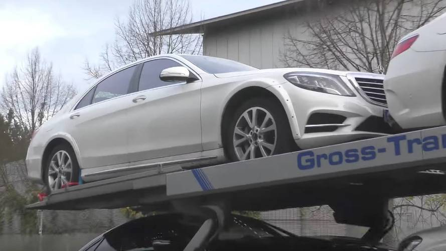 Why Is Mercedes Testing An S500 With Wider Fenders?