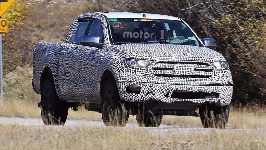 2019 Ford Ranger Spied Underneath