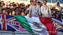 Mexican fans in the grandstand