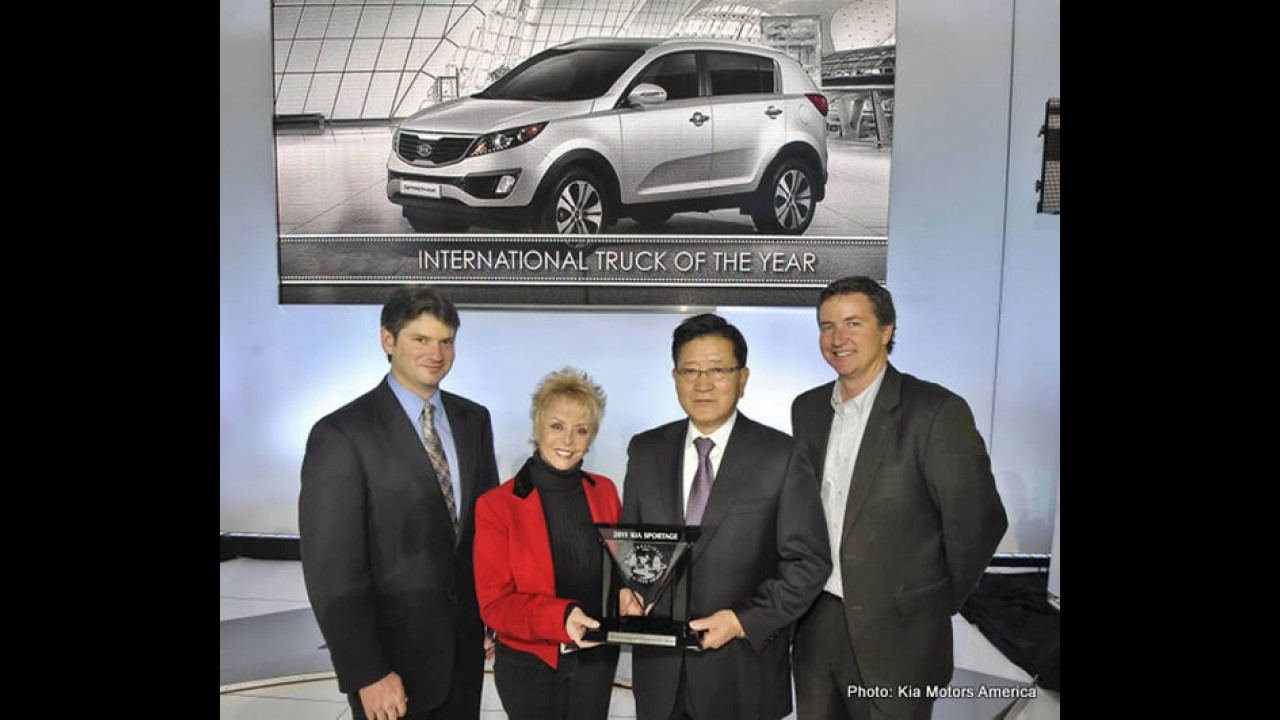 Kia Sportage é eleito International Truck of the Year 2011 nos Estados Unidos