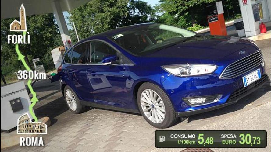 Ford Focus 1.0 EcoBoost, la prova dei consumi reali