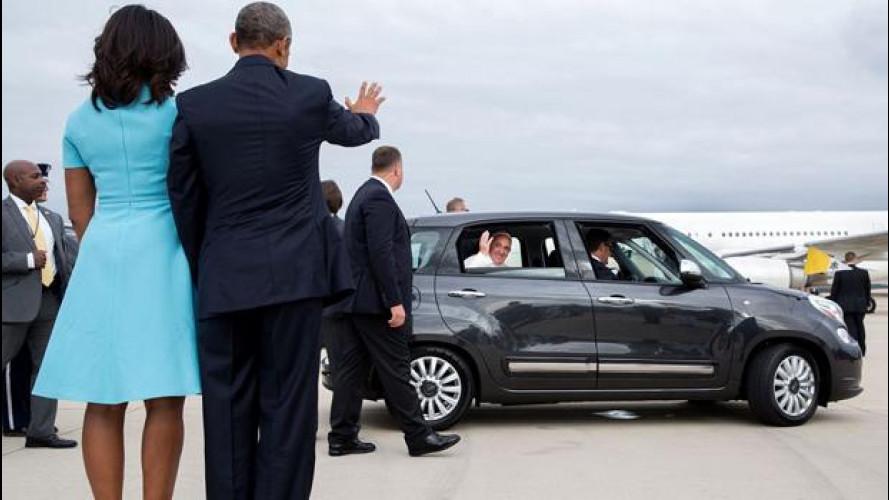 Papa Francesco alla Casa Bianca in Fiat 500L [VIDEO]