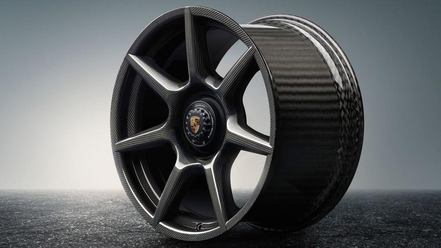 Rodas de fibra de carbono da Porsche