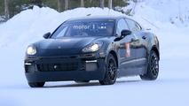 Porsche electrified test mule spy photos