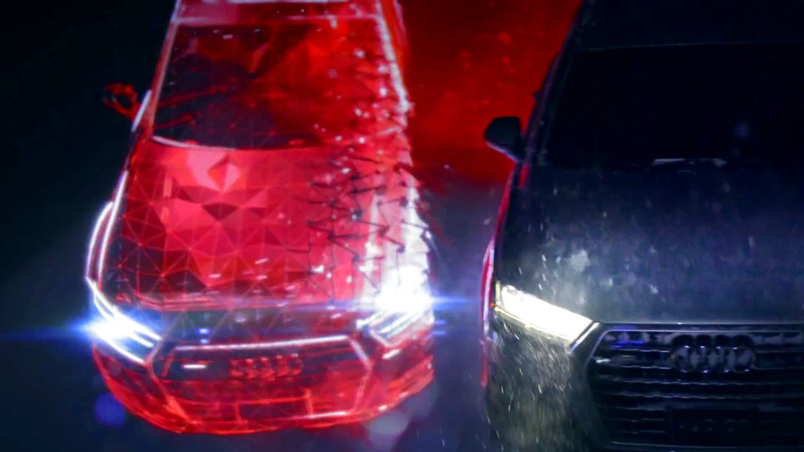 Audi Q7 projection promo