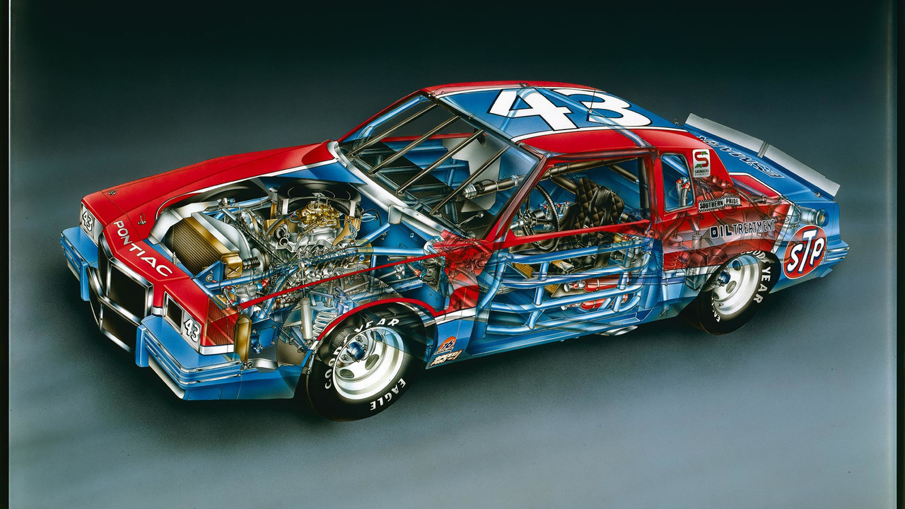 1982 Richard Petty No. 43 Pontiac Grand Prix by David Kimble