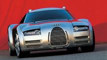 2000 Audi Rosemeyer concept and Audi Silver Arrow race car