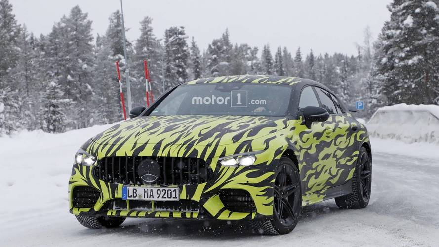 Mercedes-AMG Four-Door GT Coupe new spy images