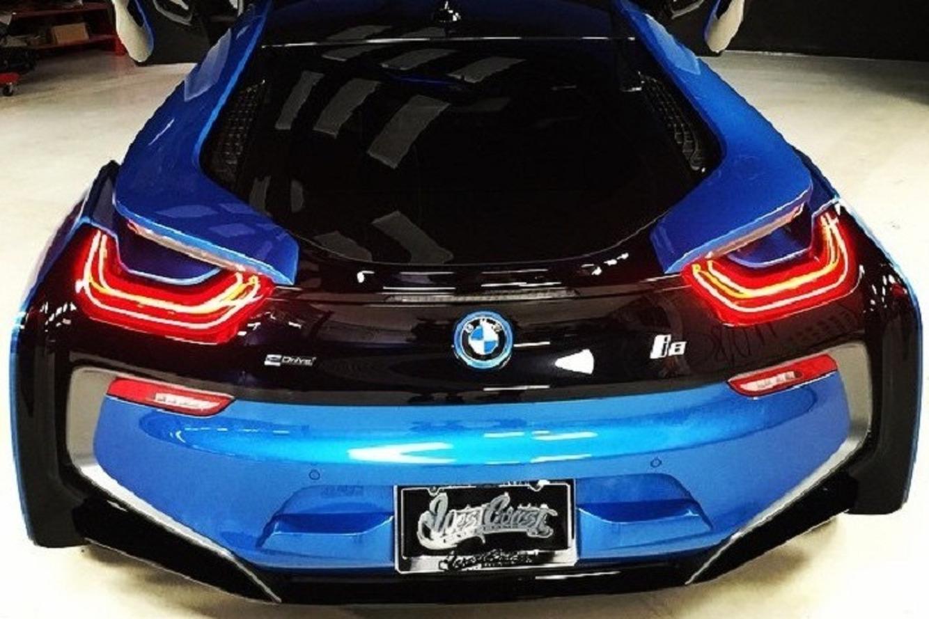 West Coast Customs Boss Drives a Beautiful Protonic Blue BMW i8