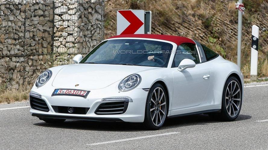Porsche 911 Targa facelift spied wearing minimal disguise