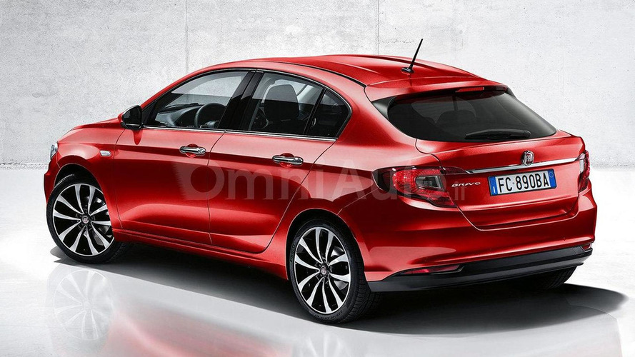 Fiat Bravo replacement rendered based on Aegea sedan