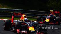Daniel Ricciardo, Red Bull Racing RB12 and Max Verstappen, Red Bull Racing RB12