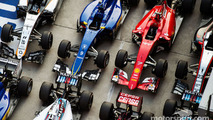 The cars in parc ferme