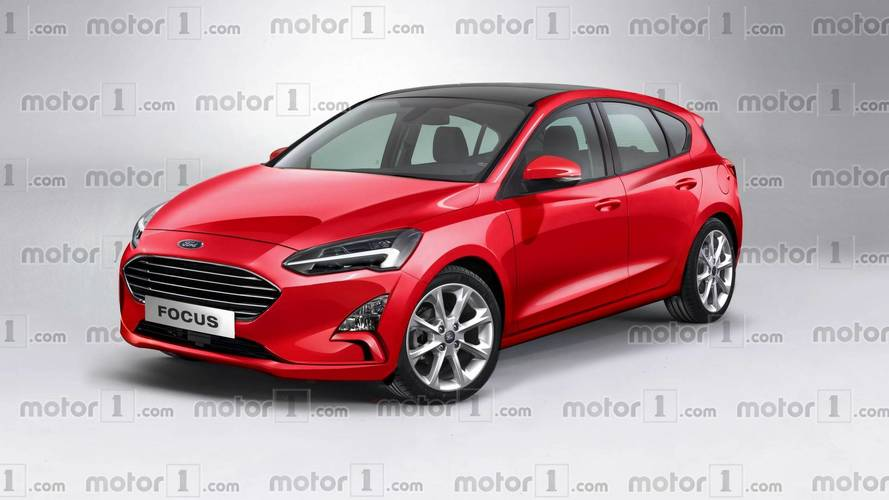 2019 ford focus render takes after the fully revealing spy image. Black Bedroom Furniture Sets. Home Design Ideas