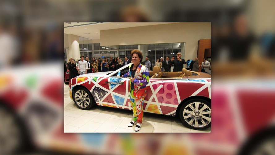 Rolls-Royce Dawn Romero Britto art car