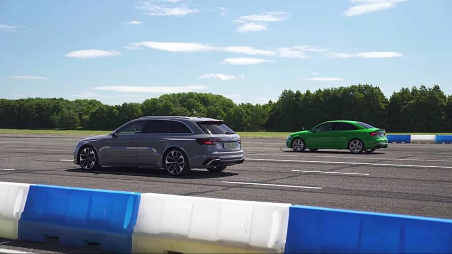 Audi RS3 Sedan ile RS4 Avant'ın drag yarışını izleyin