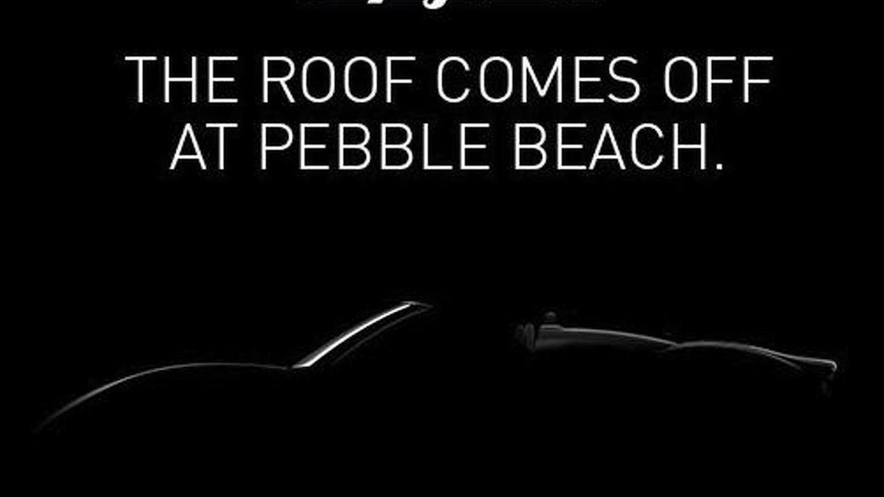 Spyker B6 Venator Spyder Concept teaser image 08.8.2013