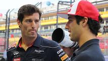 Mark Webber with Daniel Ricciardo 19.09.2013 Singapore Grand Prix