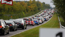 Traffic jam on Nurburgring