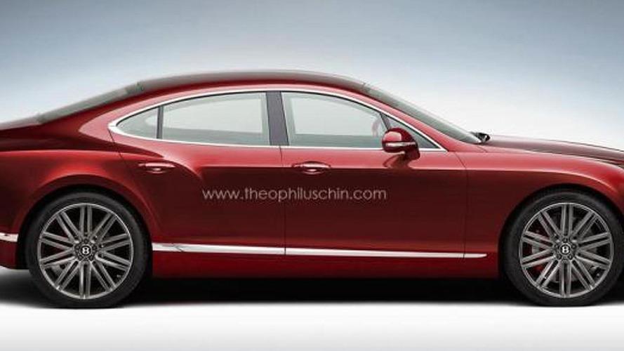 Bentley four-door coupe speculatively rendered