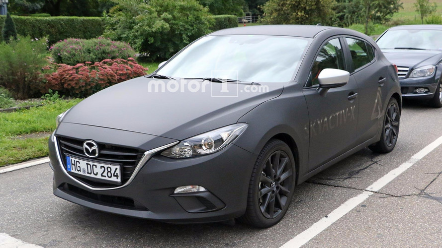mazda3 test mules spied not hiding skyactiv x engine development. Black Bedroom Furniture Sets. Home Design Ideas