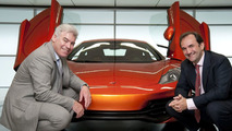 Frank Stephenson, McLaren Automotive Design Director and Antony Sheriff, McLaren Automotive Managing Director