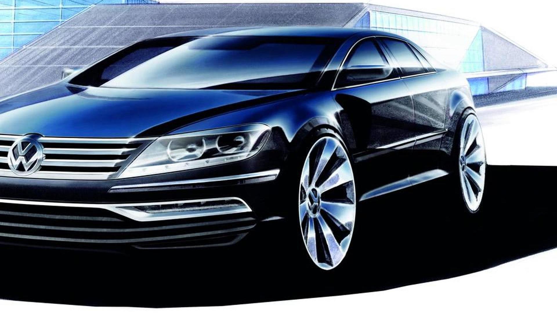 Набросок дизайна Volkswagen Phaeton нового поколения