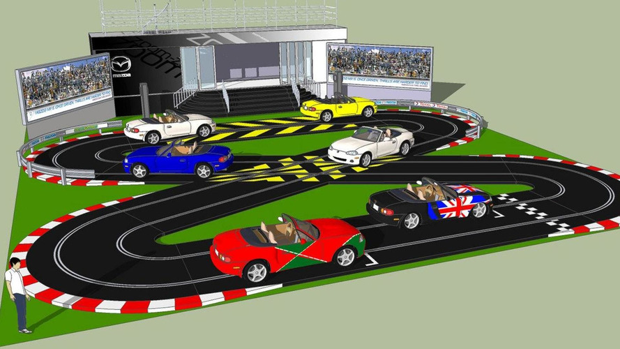 Mazda to reveal life-sized Scalextric track at Goodwood FOS 2010