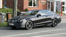 Mercedes E-Class Coupe Spied in Black