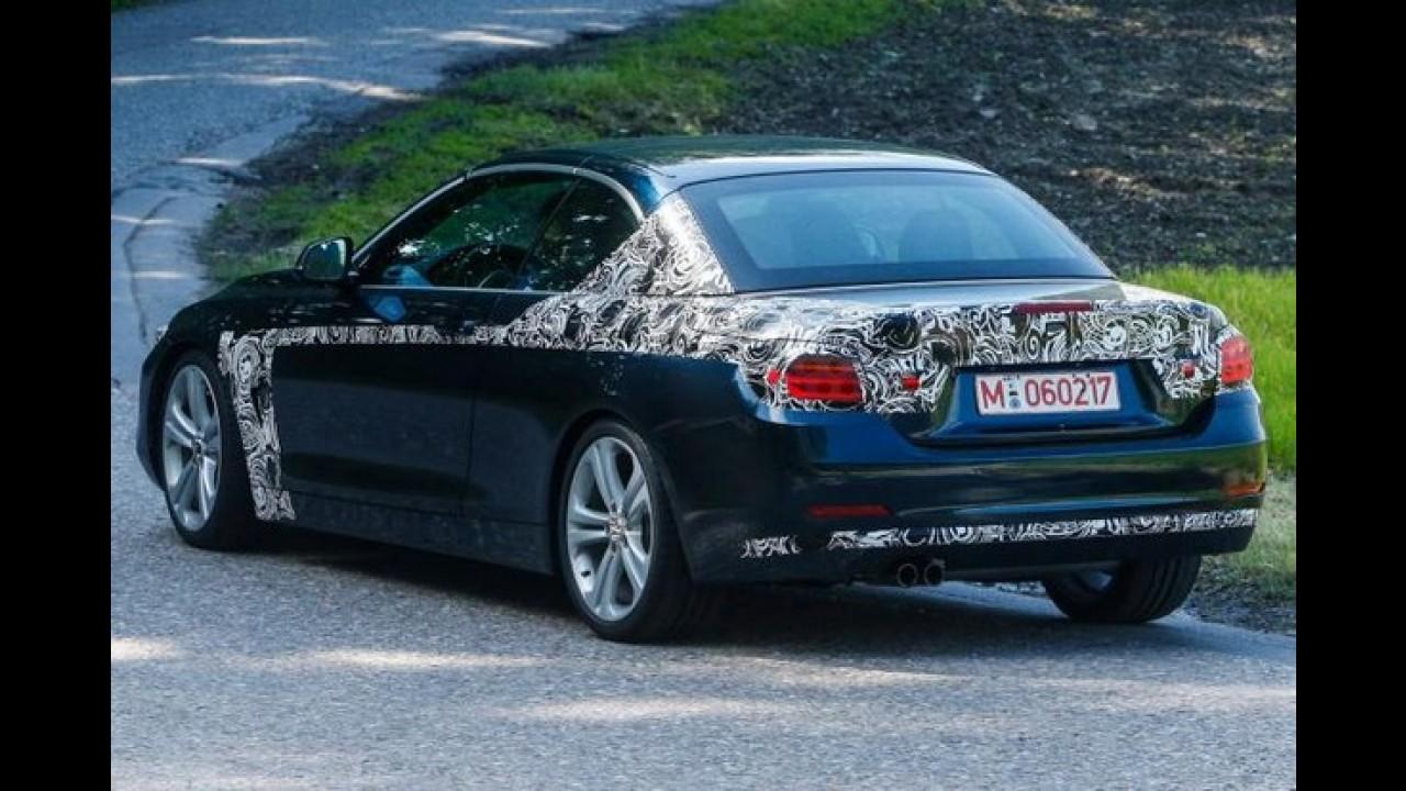 BMW Série 4 conversível é fotografado praticamente sem disfarce