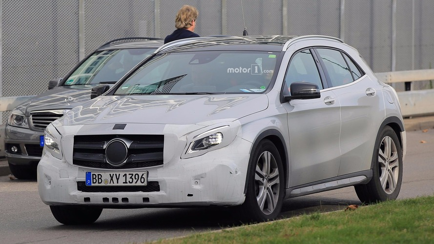 Mercedes-Benz GLA-Class facelift spied in light camo