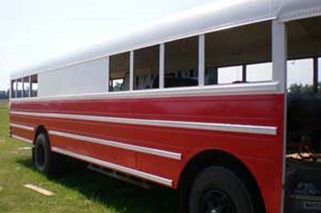 International Bus Converted into Luxury RV is DIY at its Best
