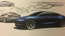 2018 Tesla Model 3 design sketch