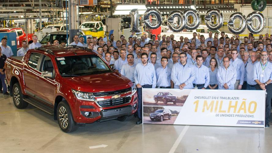 Chevrolet S10 e Trailblazer alcançam 1 milhão de exemplares produzidos