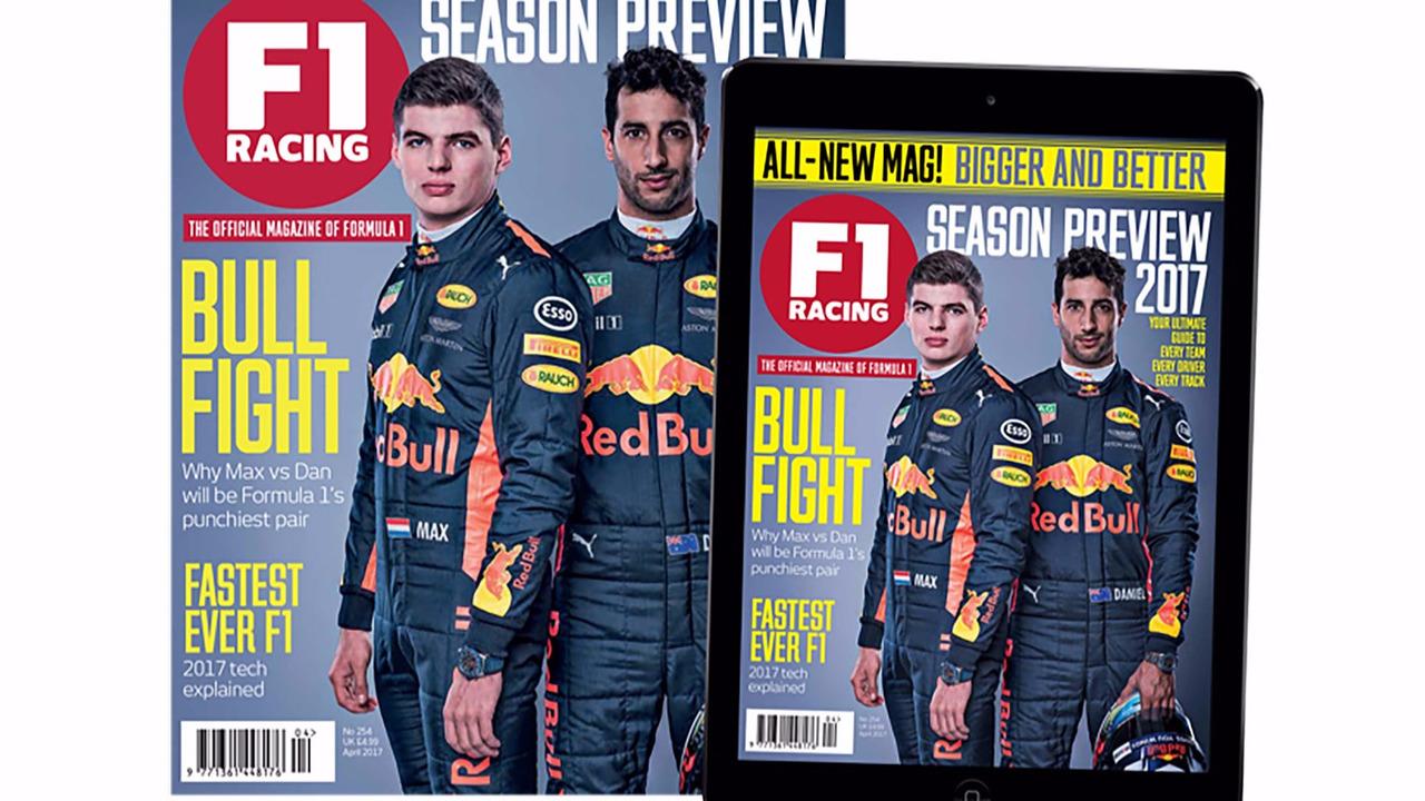 La Une de F1 Racing pour l'édition d'avril 2017