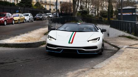 PHOTOS - La Lamborghini Centenario joue les stars à Paris !