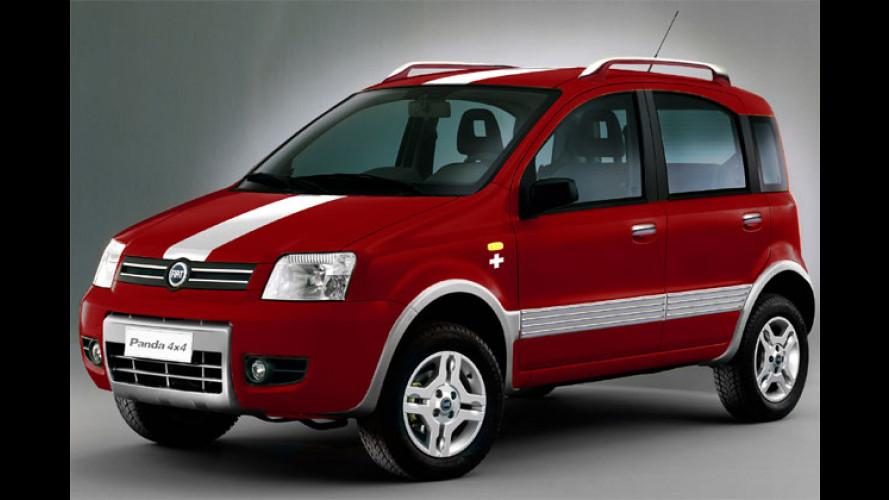 Genfer Farbenspiel: Fiat Panda 4x4 Swiss und Idea Italia