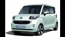 Kia mostra o novo Ray - Modelo coreano tem visual de kei car japonês