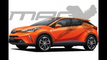 Anti-HR-V: projeção antecipa novo SUV da Toyota que chega em 2016