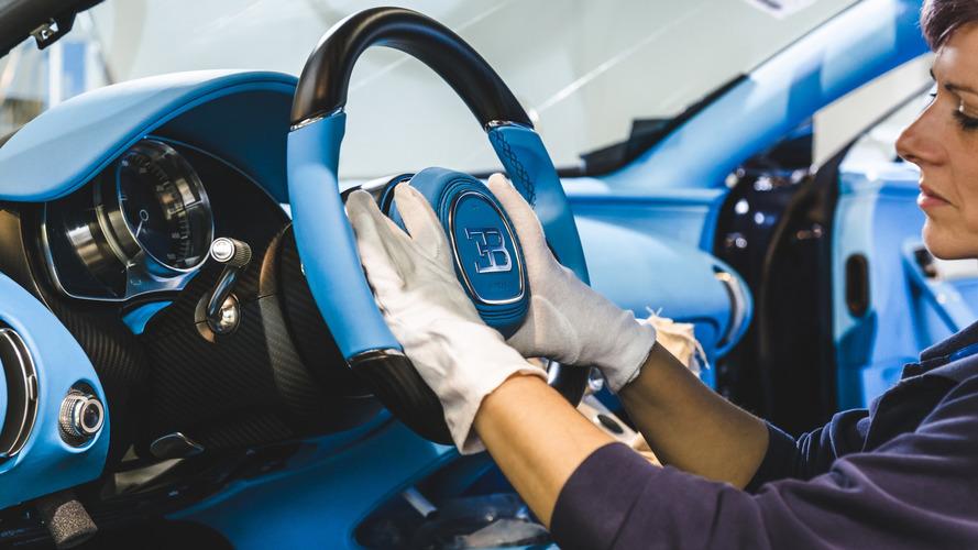 Bugatti Chiron producción en Molsheim 2017