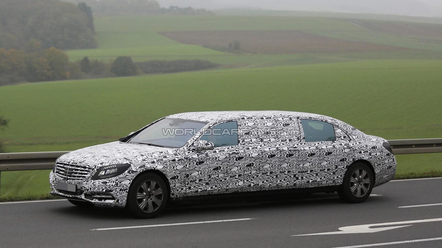 2016 Mercedes-Benz S-Class Pullman spied flaunting its six doors