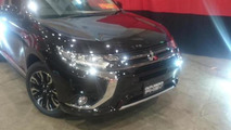Mitsubishi Outlander PHEV facelift photographed undisguised