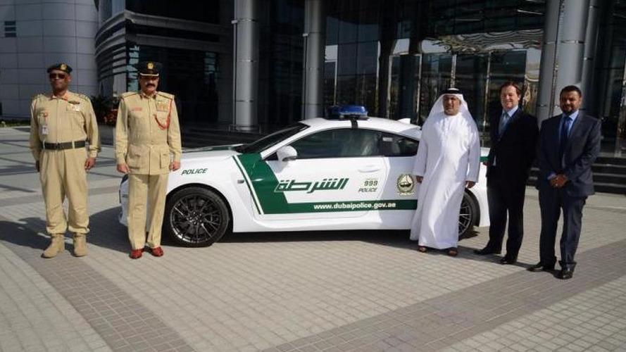 Dubai Police add a Lexus RC F to their fleet [video]