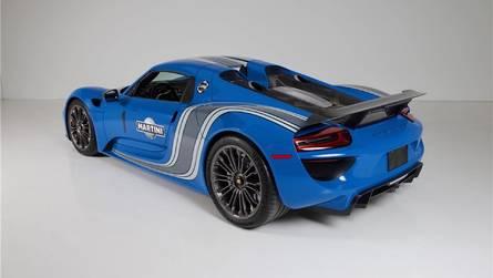 El Porsche 918 Spyder VooDoo Blue, a subasta