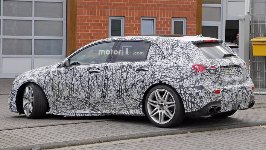 New Mercedes A-Class A45, saloon and new B-Class spied testing