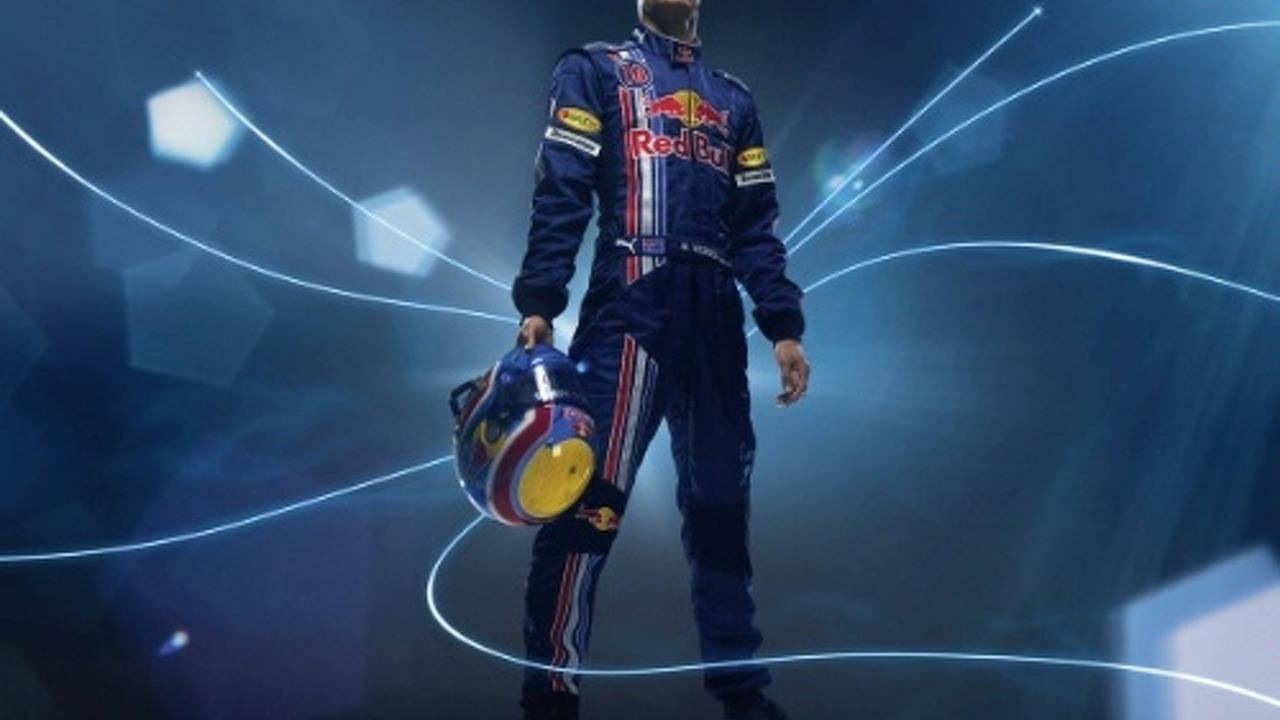Mark Webber team Red Bull glamour pose