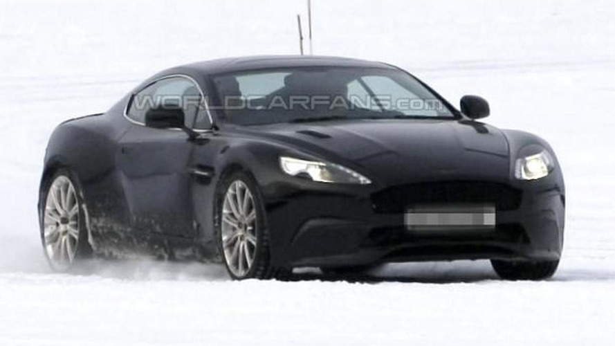 Aston Martin DB9 successor spied testing undisguised