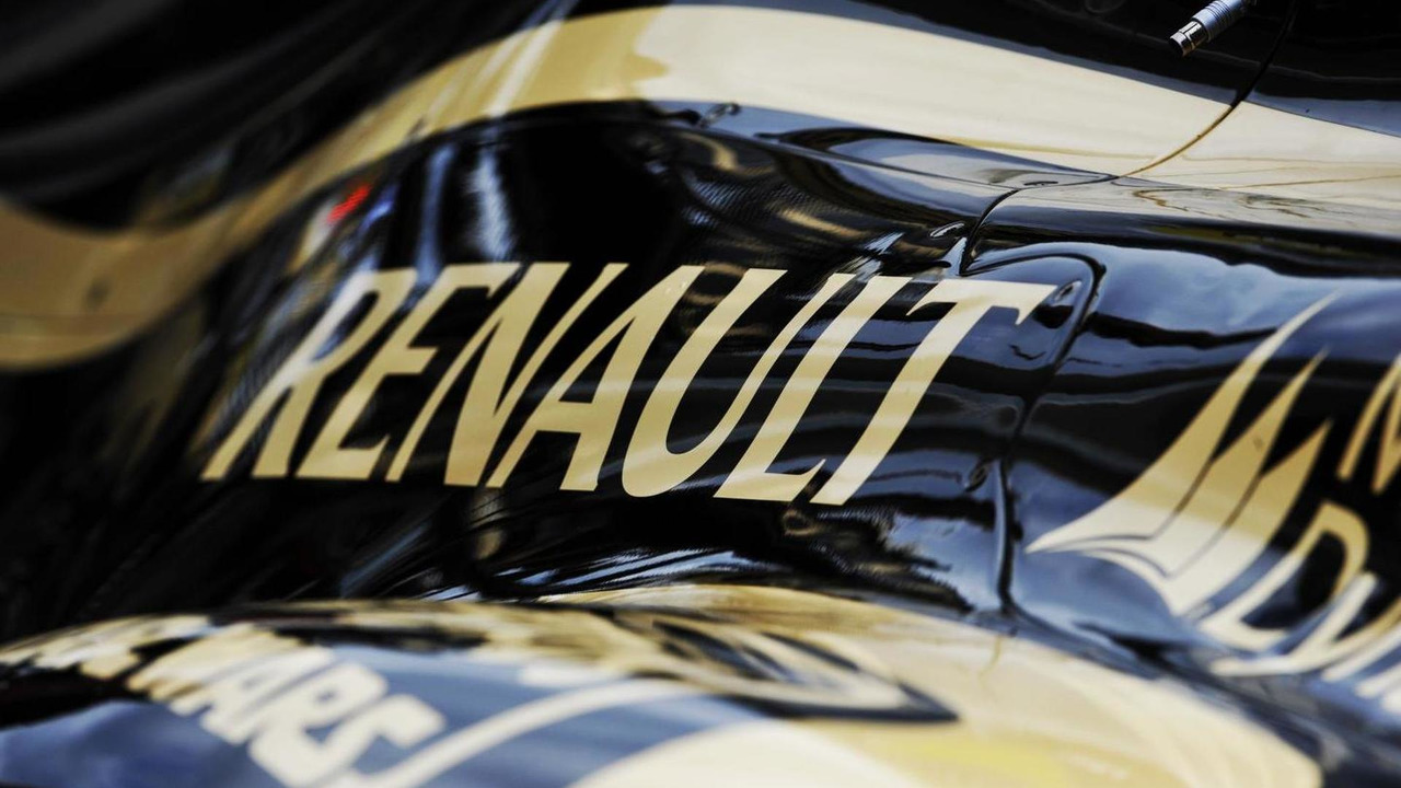 Lotus F1 E20 engine cover with Renault logo 15.11.2012 United States Grand Prix