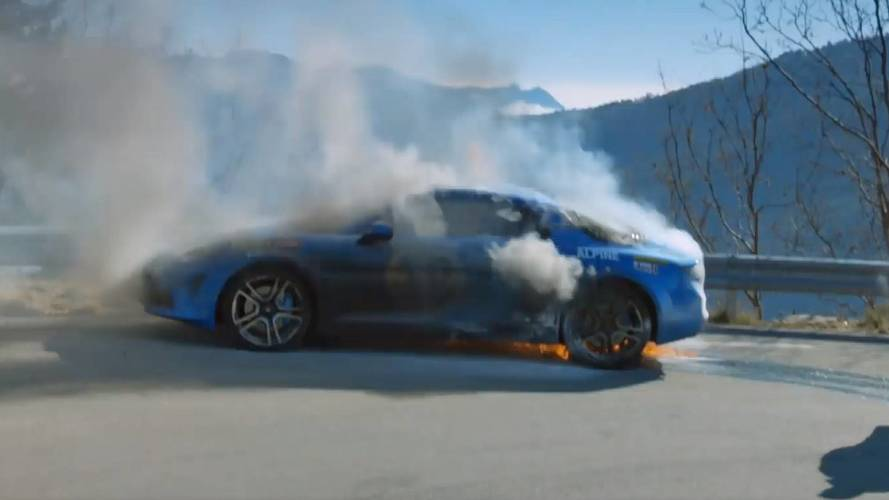 Watch The Alpine A110 Catch Fire During Top Gear Filming