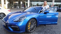 2017 Porsche Panamera Turbo with Angelique Kerber